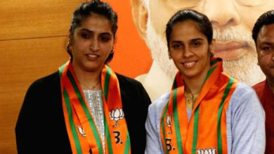 saina and her sister join bjp