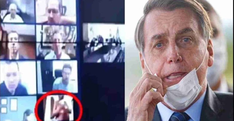 Brazilian President embarrassed when officer watching nude bath during video conferencing