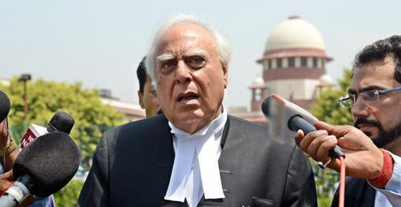 kapil sibal front of supreme court