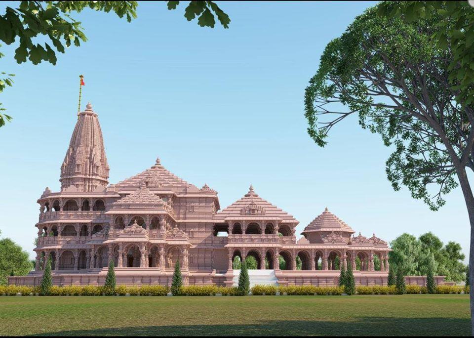 राम मंदिर की प्रारूप तस्वीर