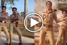 dancing girls wearing police uniform