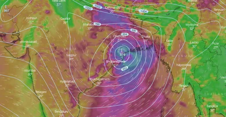 bay of bengal became center of cyclones
