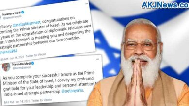 PM Modi tweeted his best wishes to the new Prime Minister of Israel