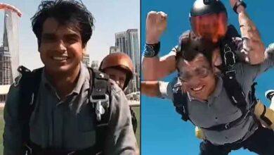 Neeraj-Chopra-skydiving